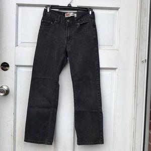 Levi's 505 Regular Black Denim Jeans Girls 10